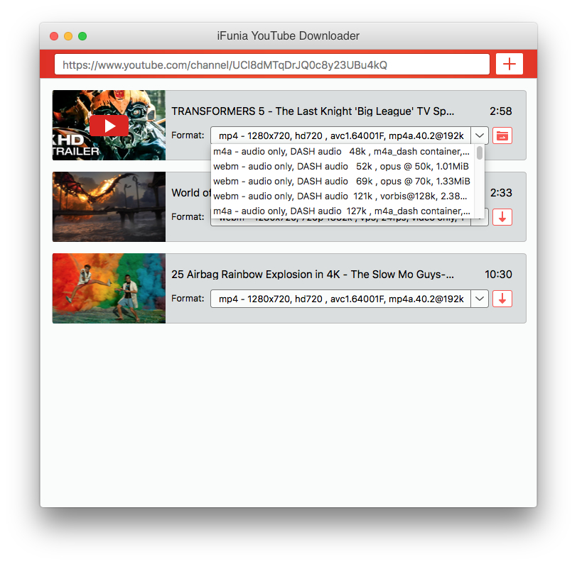 youtube downloader mac choose video format and quality
