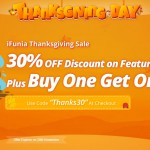 ifunia thanksgiving sale 2017