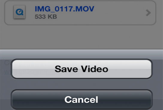 save attachment to iphone