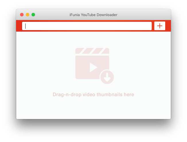ifunia youtube downloader interface