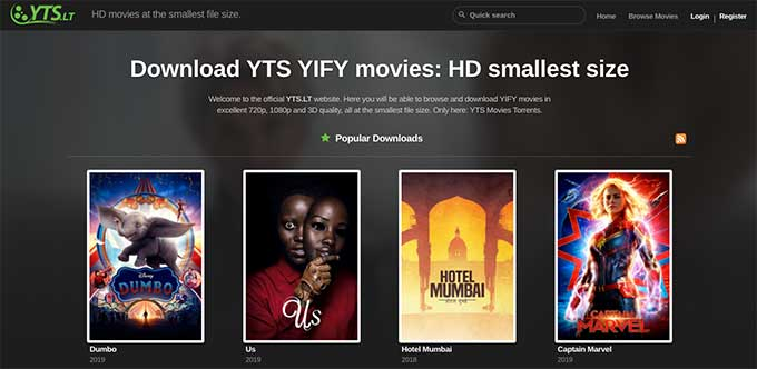 yify movies official codecs