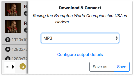 select MP3 as the output format