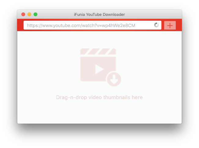 add a YouTube video to download by dragging its thumbnail