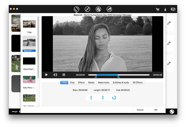 import video and audio files to iFunia Video Converter for Mac