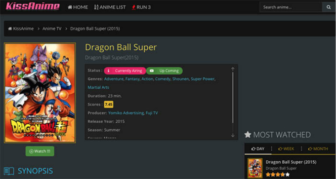 watch and download dragon ball super episodes from kissanime