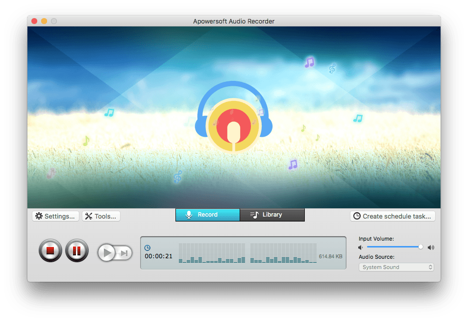 starting capture YouTube audio with free online audio recorder