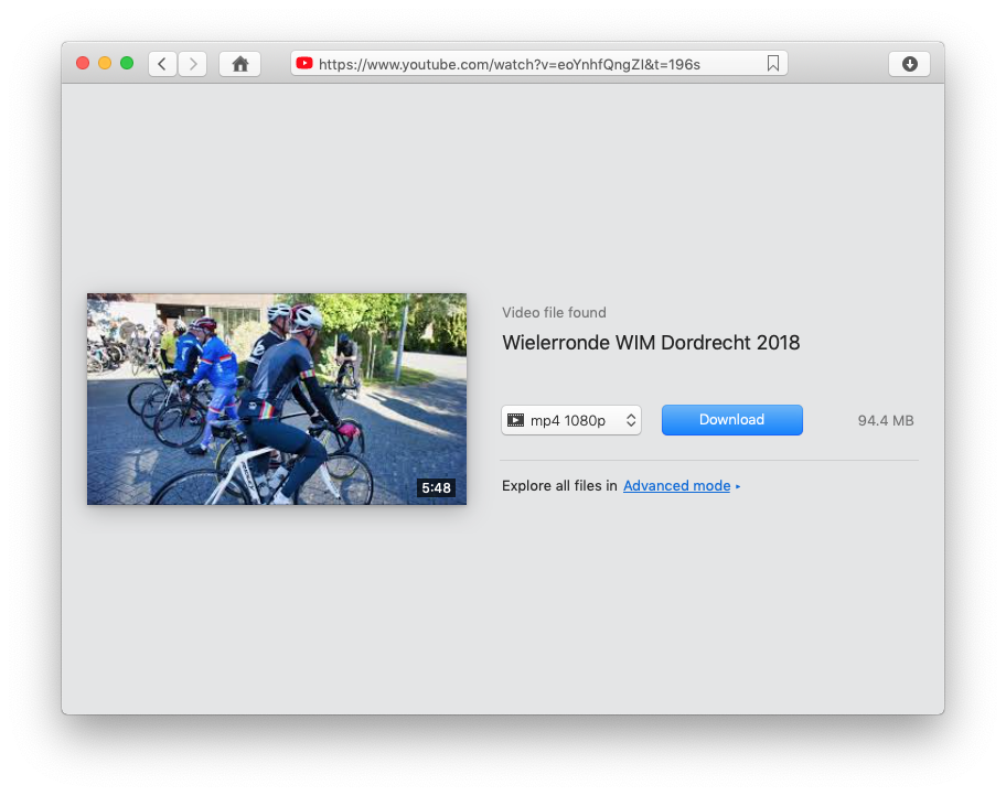 youtube downloader mac choose output format and video quality