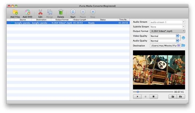 Convert DVD to 3GP on Mac - load