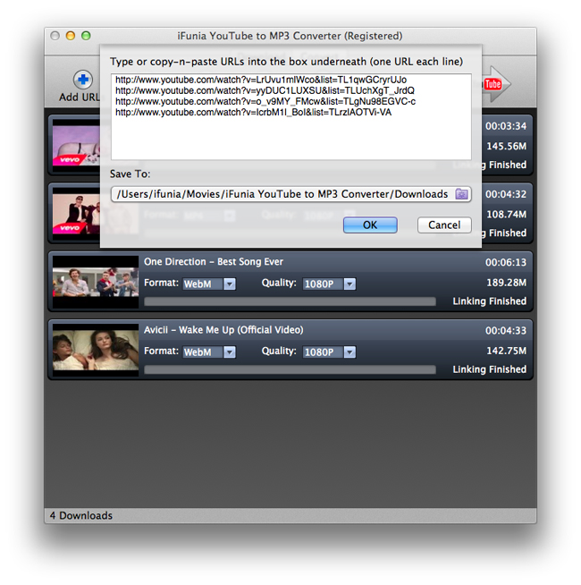 iFunia YouTube to MP3 Converter for Mac Screenshot