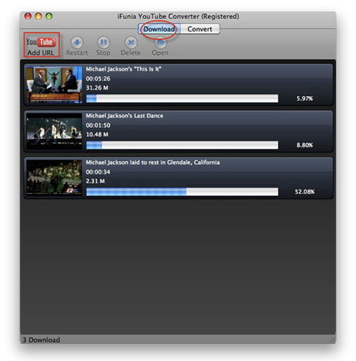 Download and Convert YouTube to AVI on Mac - download
