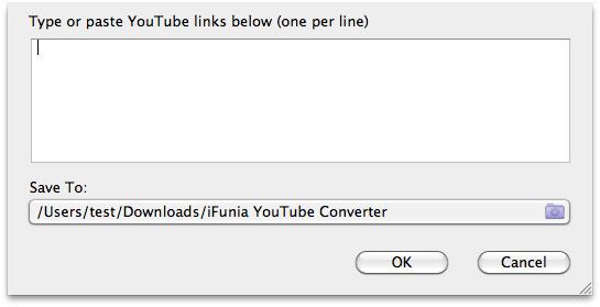 Import and Convert YouTube to FCP on Mac - add urls